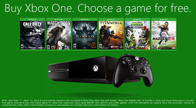 Microsoft Xbox One Madden bundle w/additional FREE game and 2YRS of Gamers Club $399 @Best Buy